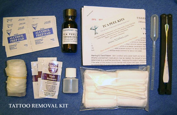 All Inclusive Tattoo Removal Remover 100 Acid Kit By Peelpros