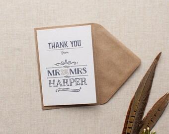 ESTELLE // Wedding Stationery // Thank You Card