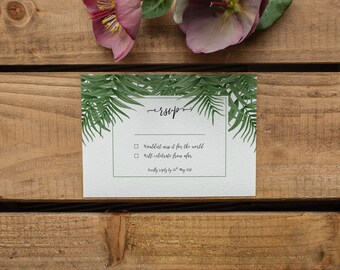 CATALINA // Wedding Stationery // RSVP Card