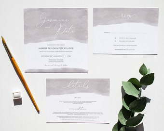 SAMPLE OF // LILY // Wedding Stationery // Suite