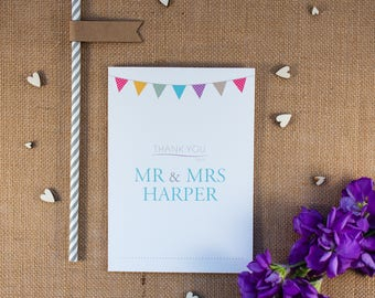 KATE // Wedding Stationery // Thank You Card