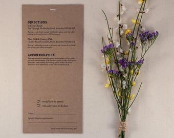 ELSIE // Wedding Stationery // Combined Additional Information & RSVP Card