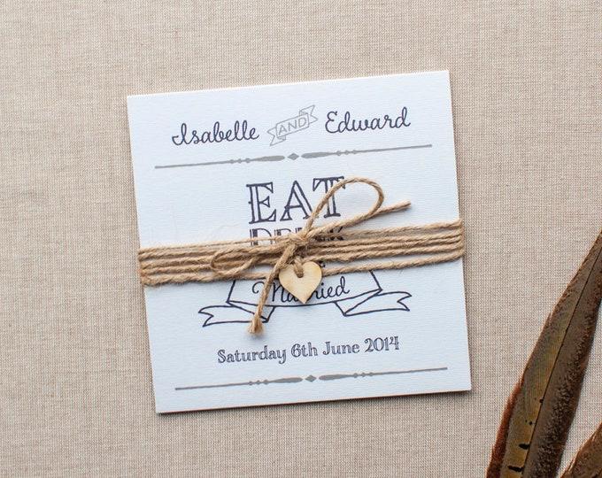 Featured listing image: ESTELLE // Wedding Stationery // Invitation