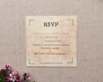 ALICE // Wedding Stationery // RSVP