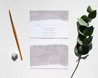 LILY // Wedding Stationery // RSVP Card
