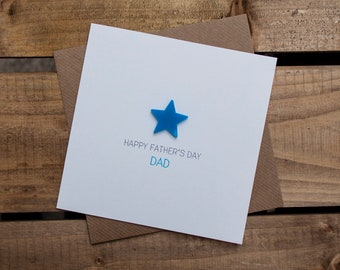 HAPPY FATHERS DAY Dad Card with detachable magnet keepsake // Dad // From Son // From Daughter // Father // For Dad