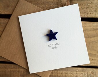 LOVE YOU DAD Card with detachable magnetic keepsake