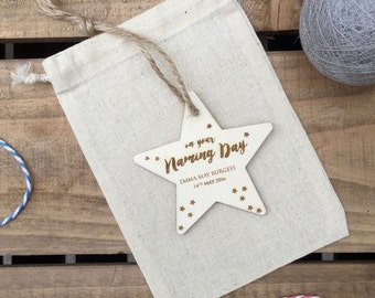 Naming Day Personalised Star