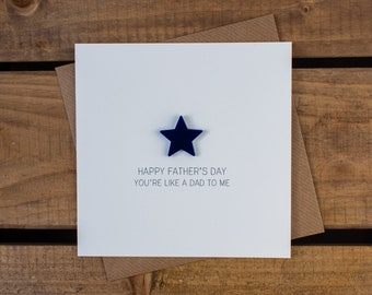 HAPPY FATHERS DAY 'You're like a Dad to me' with detachable magnet keepsake