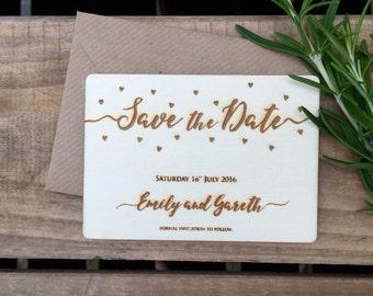 SAVE THE DATE (105 x 74mm) Confetti Love Hearts