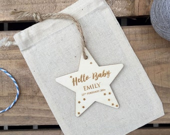 Hello Baby Personalised Star
