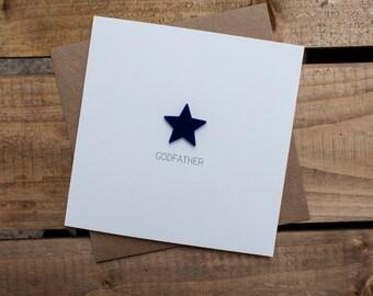 GODFATHER Card with detachable magnet keepsake