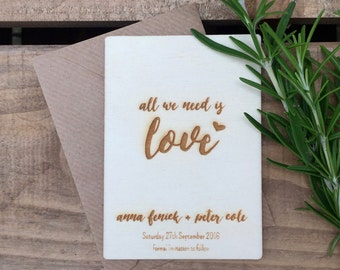 SAVE THE DATE (74 x 105mm) All We Need is Love