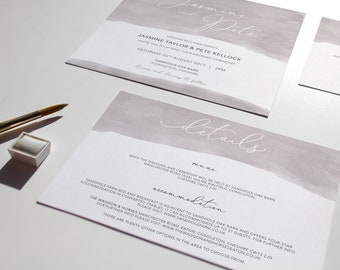 LILY // Wedding Stationery // Details Card
