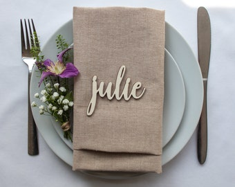 Wooden Place Name // Wedding Favour