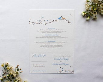 DOROTHY // Wedding Stationery // Combined Additional Info & RSVP Card