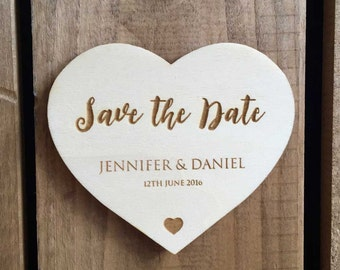 SAVE THE DATE (60 x 50mm) Love Heart