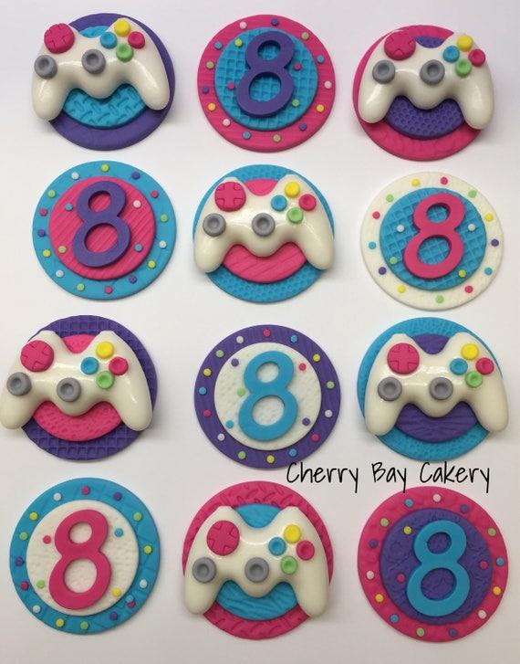 Video Game Cake Decorations Birthday Fondant