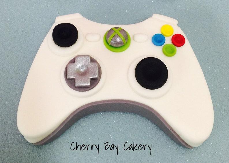 Fondant Video Game Controller Cake Topper Edible Video Game Etsy