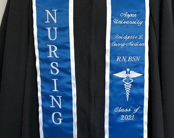 CSULA Graduation stole Nursing includes school Seal Crest black trim