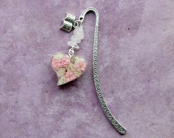 Bookmark, Unique Bookmark, Book Lover, Metal Bookmark, Floral Bookmark, Teacher Gift, Literary Gift for Her, Books,Book Mark, Book Accessory