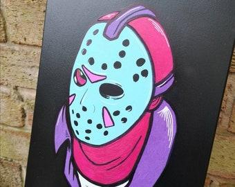 Jason Voorhees skate deck | handpainted | skateboard | Friday the 13th | halloween | horror | classic movie | hand painted | skateboarding