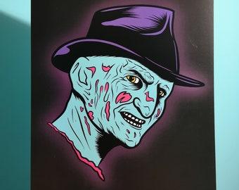 In Your Dreams | Freddy Krueger | Nightmare On Elm Street | horror art | halloween | cult horror | poster | classic horror | A4