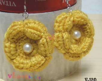 Crochet Flower Earring (V-120)