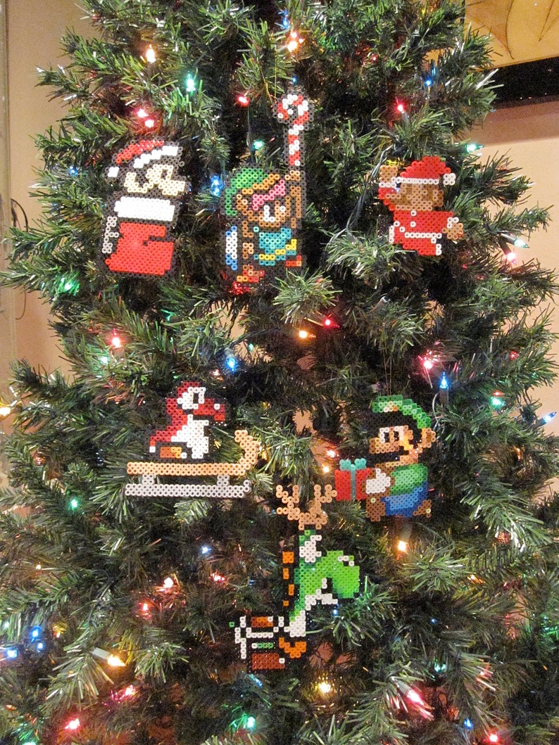 Nintendo Christmas.Choose Any 3 Handmade Nintendo Christmas Ornaments