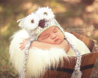 Snowy Owl Hat - Baby Owl Hat - Crochet Owl Hat - Gender Neutral Hat - Newborn  Prop - Baby Owl Prop - Newborn Boy Prop - Newborn Girl Prop 09c5f94af8e6