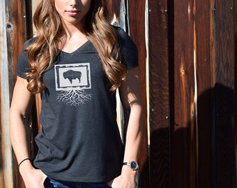 7b6be84b Women's Wyoming Roots Shirt. $25.00. Favorite. Add to