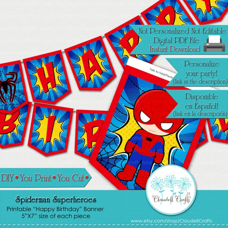 Spiderman Superheroes Avengers Inspired Birthday Party image 0