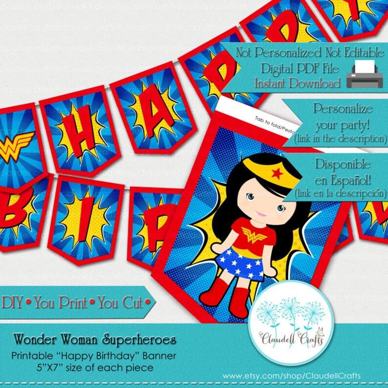 Wonder Woman Superheroes Avengers Inspired Birthday Party image 0