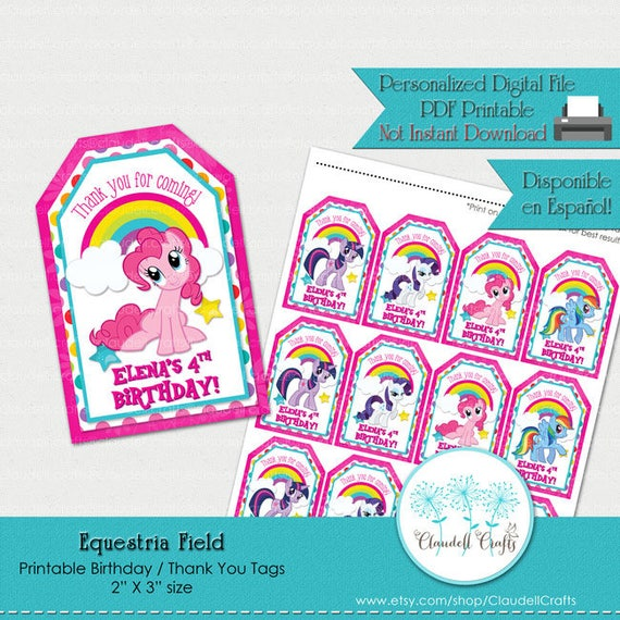 image relating to Printable Birthday Tags named Horse Industry Influenced Printable Birthday Tags / Thank Oneself