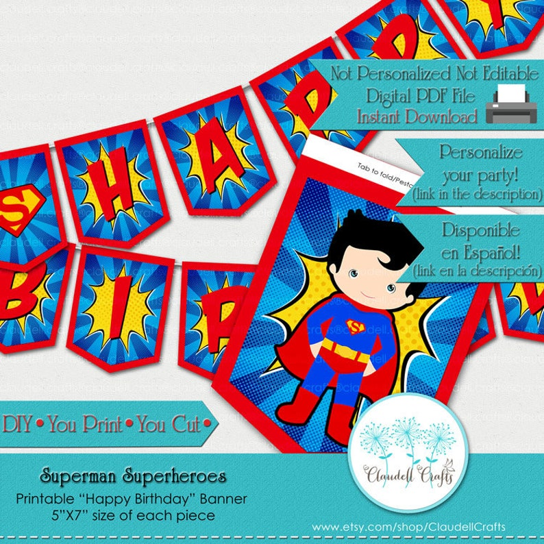 Superman Superheroes Avengers Inspired Birthday Party image 0