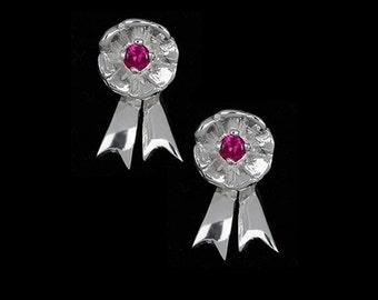Canadian Equestrian Rosette Earrings, First Place Earrings, Horse Earrings, Equestrian Earrings, Equestrian Jewelry, Horse Jewelry, Pony