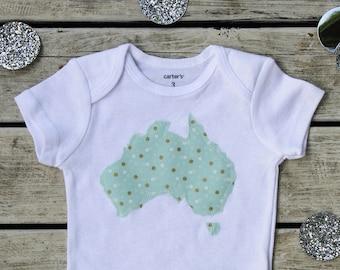 Australia Baby Onesie®, Baby Shower Gift, More Fabric Choices, Australian Baby