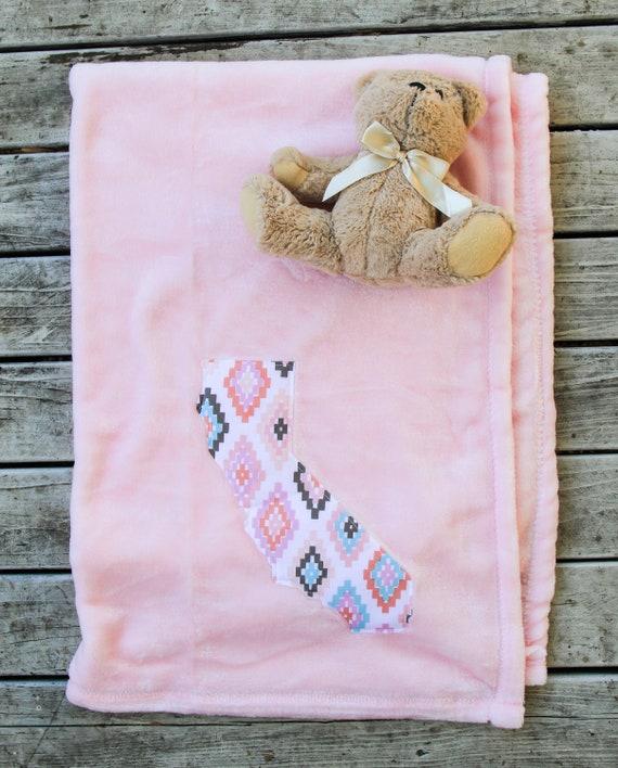 California Baby Blanket Baby Shower Gift Newborn Blanket Cali Baby Girl More Fabric Available