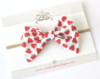 Strawberry Bow Headband ecc55b2755a