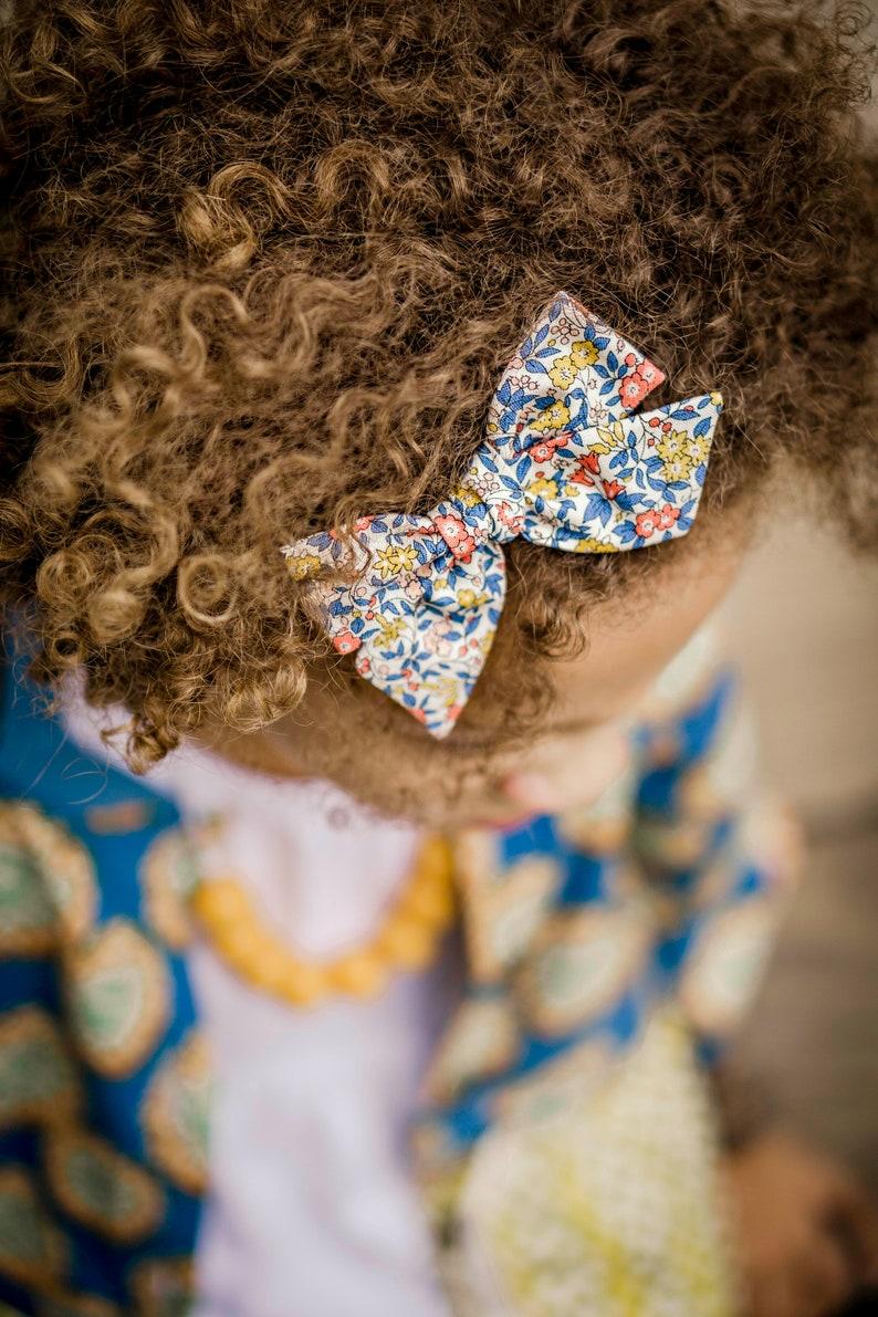 Baby Girl Headband Floral Headband Hand Tied Bow Headband Floral Hair Clip Big Bow Headband Bow Headband Floral Hand Tied Hair Bow