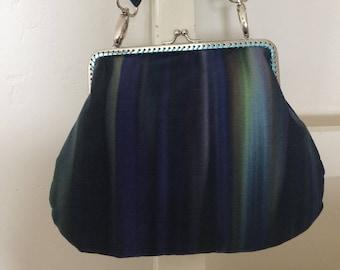 Handmade vintage fabric clasp bag