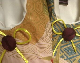 Traditional handmade vintage fabric Japanese slippers/flight slippers