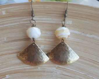 Antique Gold Earrings, Dangle Earrings, Bohemian Earrings, Boho Earrings, Hippie Earrings, Everyday Earrings, Gift For Her, Bohemian Jewelry