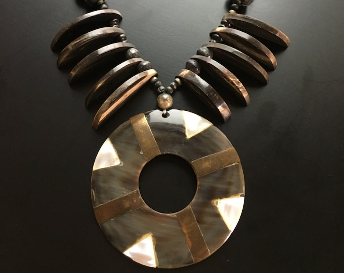 Mid-Century Tribal Style Statement Necklace