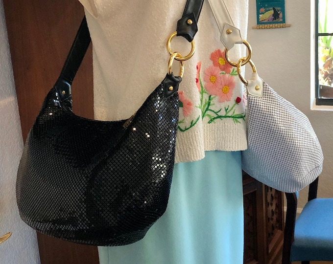 Choice of Two Whiting and Davis Mesh & Leather Crossbody / Shoulder Bag / Purses