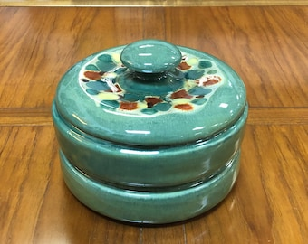 Mid-Century Modern Madeline Originals California Pottery 3-Piece Stacking Set / Trinket Box with Lid