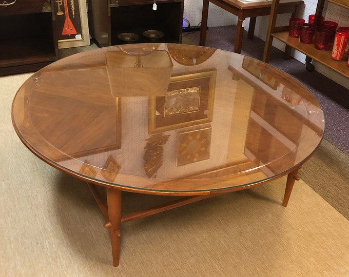 Mid Century Modern Lane Copenhagen Collection Walnut Coffee Table — Matching Side Table Also Available