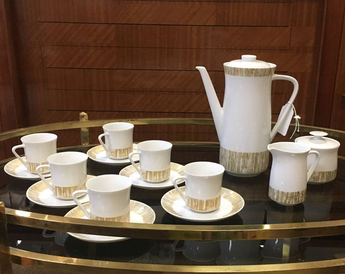 1960s Mid Century Modernist Rosenthal China Tea Set