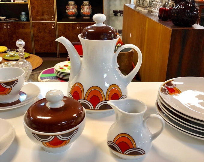Mid Century Modernist 23-Piece Winterling Bavaria German Tea Service Set