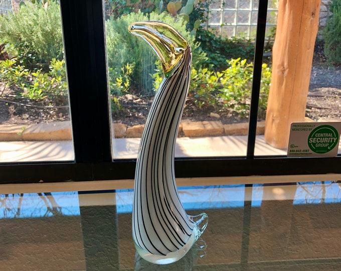 Murano Art Glass Abstract Bird Sculpture Figurine